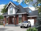 Одноэтажный дом с мансардой, гаражом и подвалом